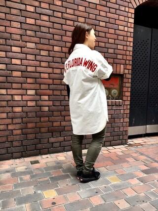 AVIREX 心斎橋 uchiharaさんの(AVIREX アヴィレックス)を使ったコーディネート