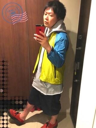 「CASPER JOHN AIVER ダメージビッグパーカー(CASPER JOHN AIVER)」 using this rikuto looks