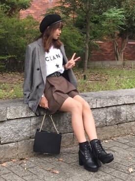 satopoo さんの「CONVERSE TOKYO/コンバーストウキョウ CLANE TEE(CONVERSE TOKYO)」を使ったコーディネート