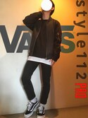 .DOさんの「VANS ヴァンズ STYLE 112 PRO VN0004KMY28 BLACK/WHITE(VANS|バンズ)」を使ったコーディネート