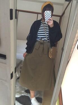 うなどんさんの「【予約】BEAMS BOY / チノ メディカル スカート15SS(BEAMS BOY)」を使ったコーディネート