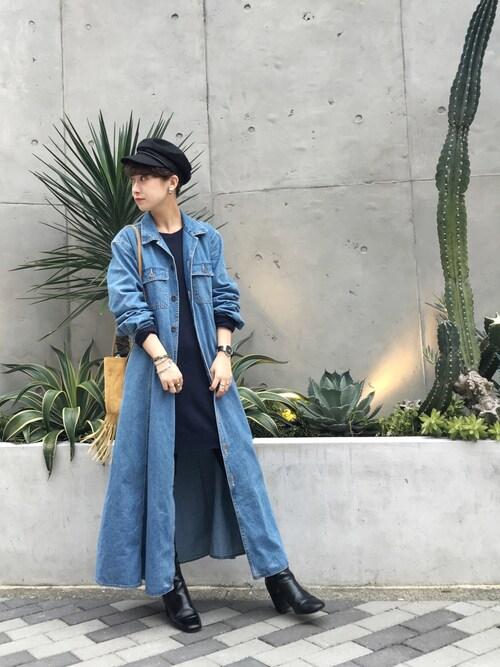 MIZUKI TANAKAさんの「リネンキャスケット(TODAYFUL)」を使ったコーディネート