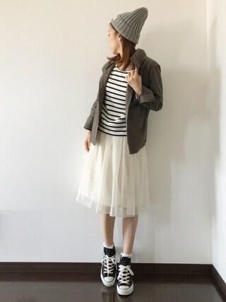 Saë..♥さんの「ツイルスタンドカラーWポケ長袖シャツ(AZUL by moussy|アズールバイマウジー)」を使ったコーディネート
