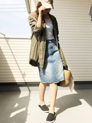 Saë..♥さんの「裾フリンジシャツ(VENCEEXCHANGE|ヴァンスエクスチェンジ)」を使ったコーディネート