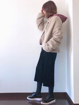 Saë..♥さんのTシャツ/カットソー「ショートプルパーカー(archives アルシーヴ)」を使ったコーディネート