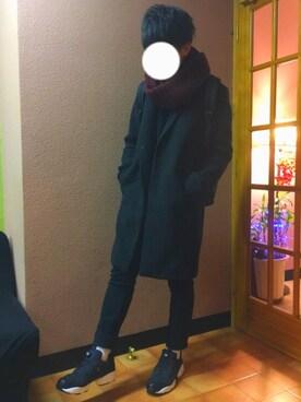 *りーくん*さんの「WOMEN エクストラファインメリノハイネックセーター(長袖)(ユニクロ|ユニクロ)」を使ったコーディネート