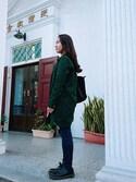 「Longchamp Le Pliage Neo Large Shoulder Tote Bag, Black(Longchamp)」 using this yu-hsin looks