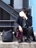 ワタルさんの「◇C6 SQUARE EXTENDER BACKPACK CORDURA(C6|シーシックス)」を使ったコーディネート