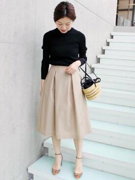 IENA 本社 Suzyさんのスカート「PE/CO タックスカート◆(IENA イエナ)」を使ったコーディネート