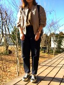 yukaさんの「【WEB限定】○JC PE ブルゾン / MA-1 / L2-B / MA1 / L2B(Jewel Changes|ジュエルチェンジズ)」を使ったコーディネート