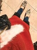 Chikaさんの「Couture-line(クチュールライン)片畦タートルワイドニットワンピース(nano・universe|ナノユニバース)」を使ったコーディネート
