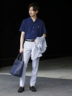 EDIFICE TOKYO 渋谷店|EDIFICE PR/SHINGOさんのテーラードジャケット「◇FANCTION MOBILE サッカージャケット(EDIFICE|エディフィス)」を使ったコーディネート