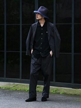 EDIFICE TOKYO 渋谷店|EDIFICE PR/SHINGOさんのポロシャツ「《予約》LACOSTE別注オープンカラーポロシャツ (LACOSTE|ラコステ)」を使ったコーディネート
