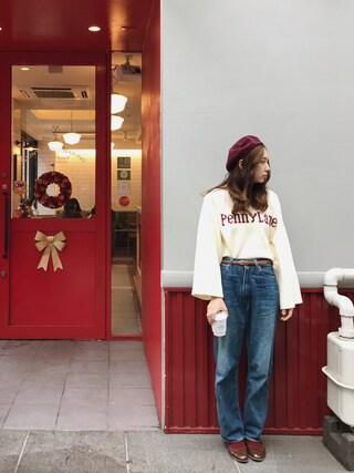「MAISON BOINET レザー細ベルト(MAISON BOINET)」 using this AMO looks