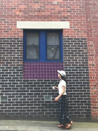 AMOさんの「BROAD RIB CREW NECK【ポケット付】(YOUNG & OLSEN The DRYGOODS STORE|ヤングアンドオルセン)」を使ったコーディネート