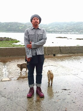 kotaroさんの「【HUNTISM】Rib Beret / MADE IN JAPAN(HUNTISM|ハンティズム)」を使ったコーディネート