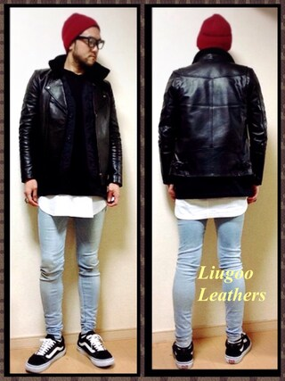 Y.N【Liugoo Leathers】さんの(Liugoo Leathers (リューグーレザーズ))を使ったコーディネート