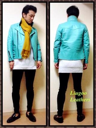 Y.N【Liugoo Leathers】さんの(Liugoo Leathers(リューグーレザーズ))を使ったコーディネート