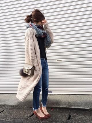 Spick & Span|Haru☆さんのTシャツ/カットソー「 wool天竺 Tシャツ◆(FRAMeWORK|フレームワーク)」を使ったコーディネート