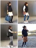 Haru☆さんの「ショールカラーダウンベスト◆(FRAMeWORK|フレームワーク)」を使ったコーディネート