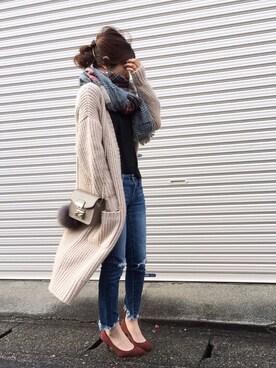Haru☆さんの「wool天竺 Tシャツ◆(FRAMeWORK|フレームワーク)」を使ったコーディネート