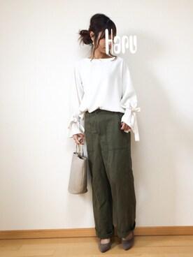 Haru☆さんのシャツ/ブラウス「≪追加予約3≫ソデリボンブラウス◆(Spick & Span|スピック&スパン)」を使ったコーディネート
