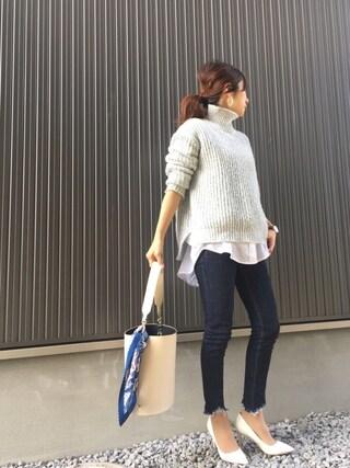 Haru☆さんの「≪予約≫SMIR NASLIワンショルダーラウンドバッグ◆(Spick and Span Noble|スピックアンドスパンノーブル)」を使ったコーディネート