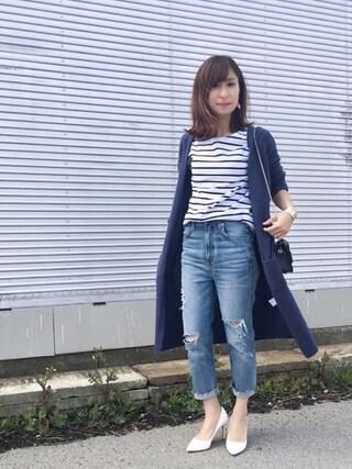 Haru☆さんの「≪予約≫カプリスギザボーダープルオーバー◆(Spick & Span|スピック&スパン)」を使ったコーディネート