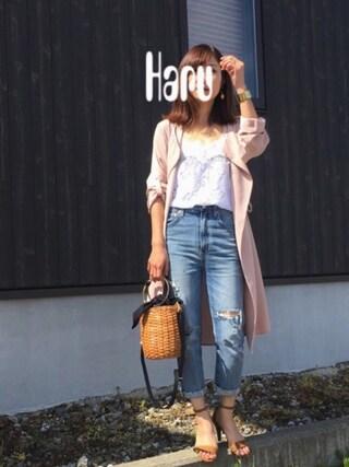 Haru☆さんの「AGOLDE RUBYフリンジデニム◆(FRAMeWORK|フレームワーク)」を使ったコーディネート