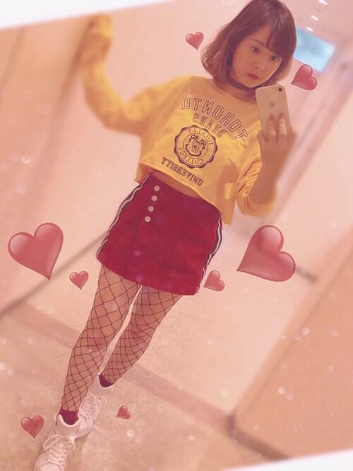 黄×黒×網タイツ×チョーカー