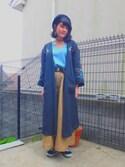Serika Nagataさんの「WEGO/リブスヌード(WEGO|ウィゴー)」を使ったコーディネート