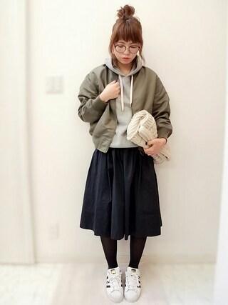 maamin♡さんの「カリフォルニアコットンギャザースカート 718116(LOWRYS FARM|ローリーズ ファーム)」を使ったコーディネート