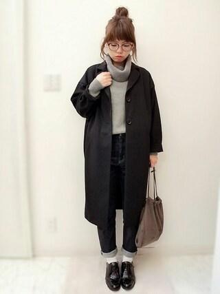 maamin♡さんの「巾着トートバッグ(ADAM ET ROPE'|アダム エ ロペ)」を使ったコーディネート