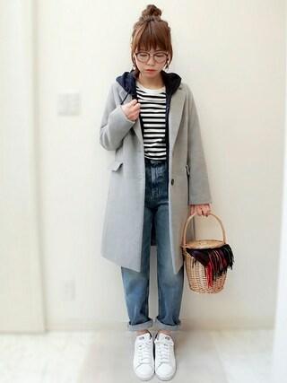 maamin♡さんの「WOMEN スウェットフルジップパーカ(長袖)(ユニクロ|ユニクロ)」を使ったコーディネート