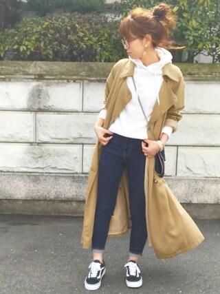 maamin♡さんの「【Lady like】テンセルロングトレンチコート(Ungrid|アングリッド)」を使ったコーディネート
