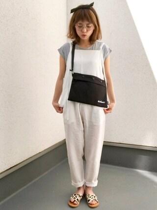 「ポケット付きTシャツ(GRL)」 using this maamin♡ looks