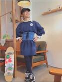 よっぴ♡さんの「ARCHEOLOGY CLUB キャップ(THE SHINZONE|ザ シンゾーン)」を使ったコーディネート