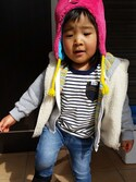 Rinoさんの「FLUFFY CAP ALIEN(X-girl Stages エックスガール ステージス)」を使ったコーディネート