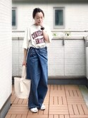 Kay-teeeさんの「綿アソートロゴTシャツ【niko and ...】(niko and...|コンバース)」を使ったコーディネート