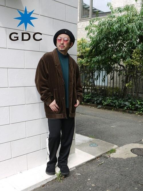 GDCTOKYO-MAH-bow-さんの「【CA4LAxGDCコラボ】WOOL BIG BERRET(GDC)」を使ったコーディネート