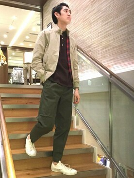 SHIPS 渋谷店|瀬谷さんのブルゾン「BARACUTA: G9(BARACUTA|バラクータ)」を使ったコーディネート