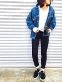Kumika☆さんの「10.5OZ デニムBIG-Gジャン#(JOURNAL STANDARD ジャーナルスタンダード)」を使ったコーディネート