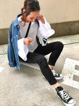 Kumika☆さんの「WOMEN ウルトラストレッチジーンズA(UNIQLO|ユニクロ)」を使ったコーディネート