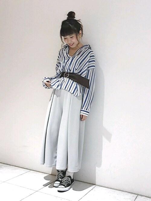 アンドイットOSAKA店さんの「ストライプシフォンスキッパーシャツ(and it_)」を使ったコーディネート