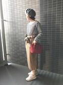 ちるさんの「ポケット付き9分袖TEE(ikka|イッカ)」を使ったコーディネート