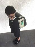 サム男さんの「セットアップ鹿の子6分丈パンツ(100cm~130cm)(COMME CA ISM|コムサイズム)」を使ったコーディネート