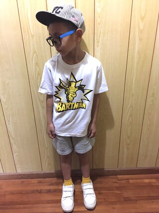 サム男さんの「THE SIMPSONSコラボ プリントTシャツ(Dickies|ディッキーズ)」を使ったコーディネート