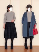 「casheepルーズロングコート  759744(apart by lowrys)」 using this haru looks