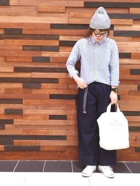 coen広島府中店|coen  あんどうさんの「ブロードレギュラーシャツ(coen)」を使ったコーディネート