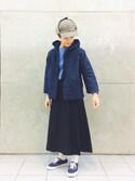 tomoyosonodaさんの「BEAMS BOY / ギャバ キルト スカート(BEAMS BOY|ビームスボーイ)」を使ったコーディネート